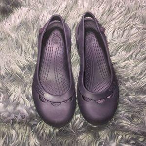 Women's Purple Crocs Size 10